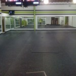 Fitness Plus. After construction, floor is ready.