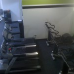 Fitness Plus. Treadmills are moved in, ready to be put up and used. Moving weekend, June 9, 2012.