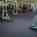 Fitness Plus. Look at this new floor. Nice!