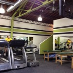 Fitness Plus. Showing off the new decor.