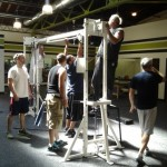 Fitness Plus. It takes a crew to set everything up for the new gym at 831 National Ave., Lexington KY.