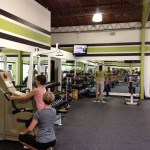 Fitness Plus. Trainer and client on opening day June 11, 2012.