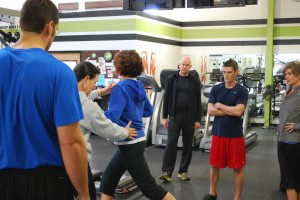 Fitness Plus personal trainers in Lexington KY work out with John Stuef, creator of the Strong Over 50 system