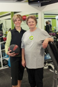 Laura Coombs (left) with Fitness Plus client Peggy Henderson