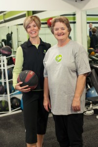 Fitness Plus personal trainer Laura Coombs and client Peggy Henderson