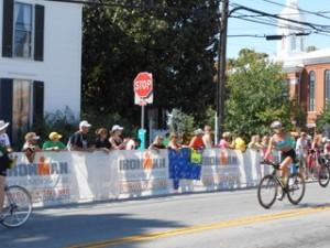 The biking leg of Ironman Louisville 2013
