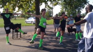 Warming up before the 4-mile race/obstacle course. Extreme Rampage 2013.