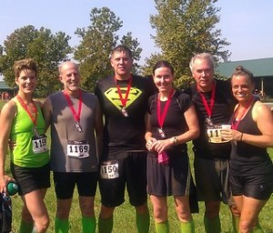 The Fitness Plus crew: Laura Coombs, David Brian, Joey Hacker, Sheila Kalas, Steve MacNeil, Kimberly Campbell. Extreme Rampage 2013 in Lexington, KY.