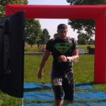"Fitness Plus trainer Joey ""Superman"" Hacker at the finish line. Extreme Rampage 2013."