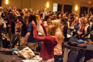 2014 Young Women LEAD Conference. Girls exercising. Life Fotos of KY photo.